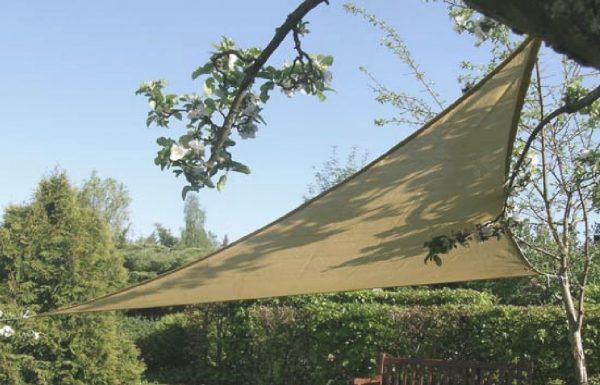 Retvinklet solsejl i HDPE